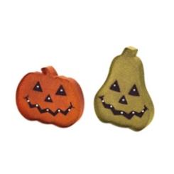 Halloween Metal LED Jack O' Lanterns, Set of 2