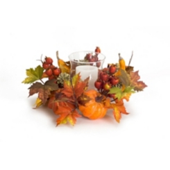 Pumpkin and Berry Candle Holder