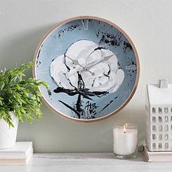 Cotton Art Wall Clock