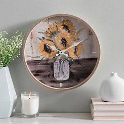 Sunflower Art Wall Clock