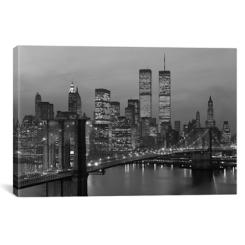 Black and White NYC Skyline Canvas Art Print