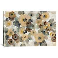 Beige Neutral Floral I Canvas Art Print
