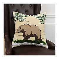 Winter Bear Scene Christmas Pillow