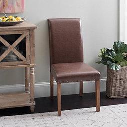 Faux Leather Parson Chair