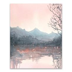 Autumn, Malibou Lake Canvas Art Print