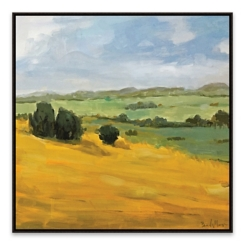 Valley View Framed Canvas Art Print