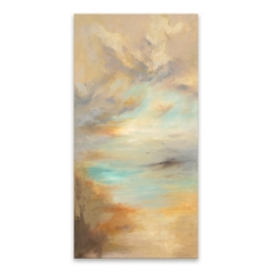 Hand Embellished Tan Untitled Canvas Art Print