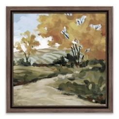 Pasture Pathway Framed Canvas Art Print