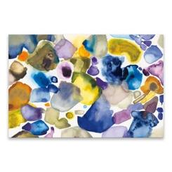 Blue, Purple, and Gray Splotch Canvas Art Print