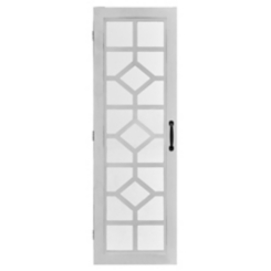 White Eloise Armoire Jewelry Mirror