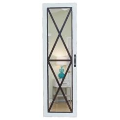 Barn Door Armoire Jewelry Mirror