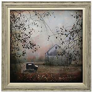Blue Barn Framed Art Print