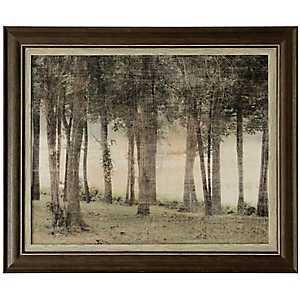 Woods at Dusk Framed Art Print