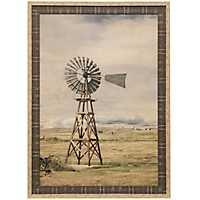 Oklahoma Farming Landscape Framed Art Print