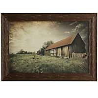 Sunset Barn Framed Art Print