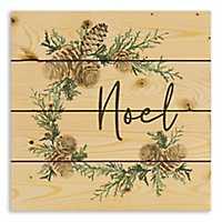 Pallet Wood Noel Wreath Christmas Plaque