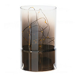 Light Up Glass Cylinder, 5.9 in.