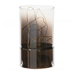 Light Up Glass Cylinder, 7.8 in.
