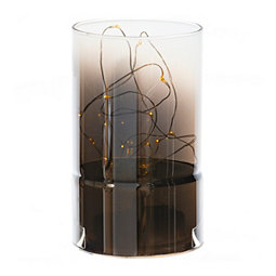 Light Up Glass Cylinder, 9.8 in.