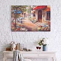 Afternoon Cafe Canvas Art Print