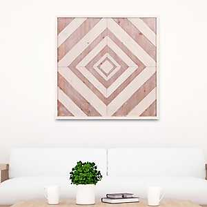 Geometric Quilt Brown Wood Tone Wall Plaque