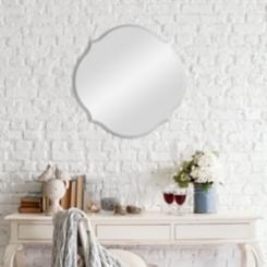 Scalloped Beveled Frameless Mirror, 20 in.