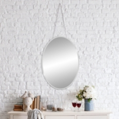 Beveled Oval Frameless Mirror, 17x24 in.