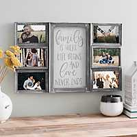 Distressed Gray Collage Frame