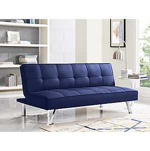 Calvin Serta Blue Convertible Sofa