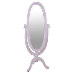 Pink Wood Kids Cheval Mirror