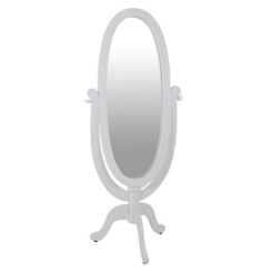 White Wood Kids Cheval Mirror