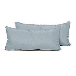 Spa Blue Outdoor Rectangle Pillow, Set of 2