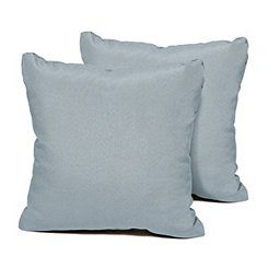 Spa Blue Outdoor Square Pillow, Set of 2