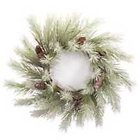 Snowy Pine with Pine Cones Christmas Wreath