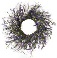 Lavender Clover Berry Wreath