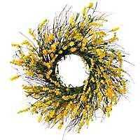 Yellow Clover Berry Wreath