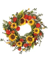 Sunflower and Poppy Wreath