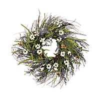 Cotton Cosmos and Lavender Wreath