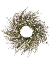 Cream Daisy Thistle Wreath