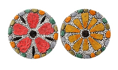 Mosaic Flower Stepping Stone, Set of 2