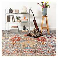 Multicolor Sandy Area Rug, 7x9