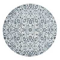 Light Blue Alex Round Area Rug, 6 ft.