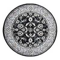 Black Alex Round Area Rug, 6 ft.