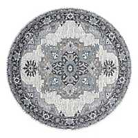 Light Gray Alex Round Area Rug, 6 ft.