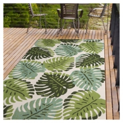 Sage Green Piazza Outdoor Area Rug, 8x11