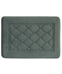Gray Microban Antimicrobial Memory Foam Bath Mat