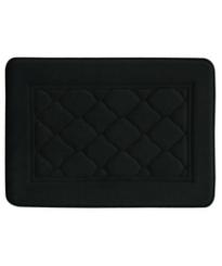 Black Microban Antimicrobial Memory Foam Bath Mat