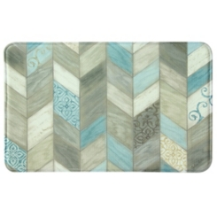 Rustic Chevron Memory Foam Kitchen Mat