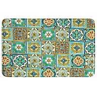 Multi Malibu Tile Memory Foam Kitchen Mat