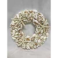 White Seashell and Starfish Wreath